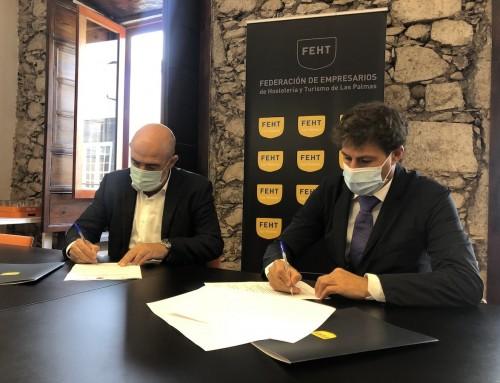 Convenio de colaboración entre Ecatar Canarias, (Empresa de Inserción de la Fundación Ataretaco) y la Federación de Empresarios de Hostelería y Turismo de Las Palmas de Gran Canaria.